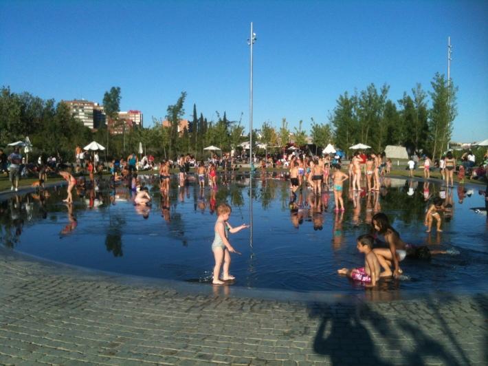 madrid rio fontanas