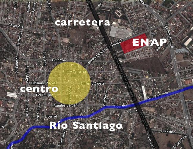 plano santiago de xochimilco